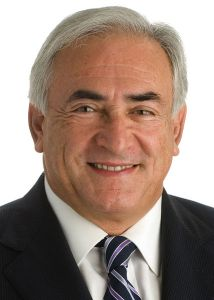 Dominique Strauss-Kahn in his IMF portrait.