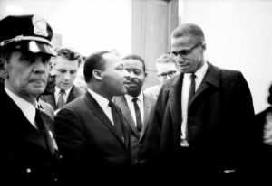 Martin Luther King, Jr with Malcom X