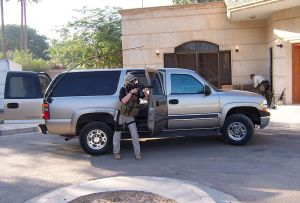 "Blackwater contractor in Iraq ""Contract security, Baghdad"" by jamesdale10"