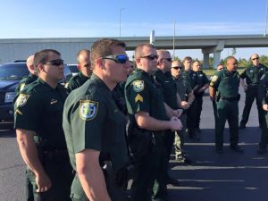 Walton County Deputies that volunteered to go to neighboring Panama City and help restore order after the latest outbreak of violence. They did this for free. Image Source: WCSO