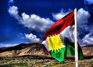 The Kurdistan flag. Image Source:  Jan Sefti under a Creative Commons Licence -