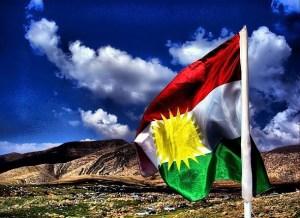 The Kurdistan flag. Image Source: Jan Sefti under a Creative Commons Licence -