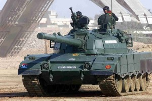 "Tank rolls out in Pakistan. Image Credit: ""Alzarrar"" by Raza0007"