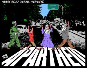 """Abbey Road, Israeli version"" by Carlos Latuff"
