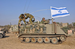 """Armored Vehicles Near the Gaza Border (14569563999)"" by Israel Defense Forces -"