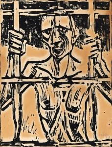 """Prisoner in art. """"Christian Rohlfs Der Gefangene 1918 img02"""" by Christian Rohlfs -"""