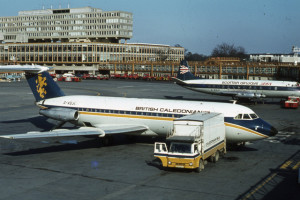 """""""Gatwick Airport in 1972 - geograph.org.uk - 1577784"""" by Ian Taylor."""
