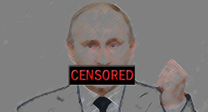 Putin and censorship. Image Source: Democracy Chronicles, Flickr, Creative Commons