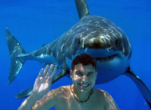 Teen and shark. Image Source: Ed Garcia, Flickr, Creative Commons