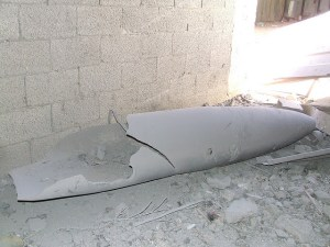 Unexploded ordnance in Palestine. Image Source: RafahKid Kid, Flickr, Creative Commons