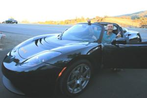 Tesla electric car. Image Source: Steve Jurvetson, Flickr, Creative Commons