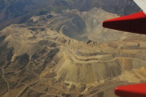 Aerial view of copper mine. Image Source: Mike Fisher, Flickr, Creative Commons