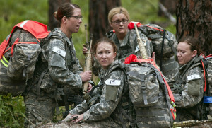 U.S. Army Soldiers conduct a ruck march during the Cultural Support Assessment and Selection program. The U.S. Army Special Operations Command's cultural support program prepares all-female Soldier teams to serve as enablers supporting Army special operations- combat forces in and around secured objective areas. The Cultural Support Assessment and Selection program is conducted by the U.S Army John F. Kennedy Special Warfare Center and School at Fort Bragg, N.C. and is five days of physical, mental and intellectual evaluations designed to determine a candidate's ability to maintain her composure, apply logic, communicate clearly and solve problems in demanding environments. During this time, candidates are expected to skillfully manage simultaneous tasks and comprehend ambiguous instructions while working under varying degrees of uncertainty with little feedback. The program is as much a mental test as it is a physical test. The desired outcome of Assessment and Selection is a candidate pool of female Soldiers who are eager to serve with an Army special - operations unit. Their primary task is to engage female populations in objective areas when such contact may be deemed culturally inappropriate if performed by a male service member. The program is conducted at Camp Mackall, in Hofman N.C. If selected, candidates are invited back to Fort Bragg as Cultural Support training students. The training period is between four and six weeks and focuses on cross-cultural communication skills. Students are also trained to negotiate, mediate, communicate through an interpreter and engage with local leaders in a deployed environment. (U.S.Army photo by SSG. Russell Lee Klika JFKSWCSPAO).Released.