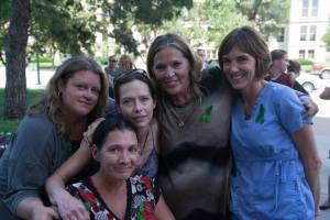 Shona Banda, Jennifer Winn, AlmaAnn Klaassen-Jones, Stacie Swanson-Crass and Michelle Ravenstien. Photo by Mike Shatz, Kansas Exposed