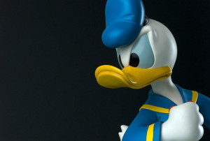 Lighting Details: Elinchrom Rotalux Octa 175 cm as main behind camera Gridded Stripbox camera right as kicker Image Source: Tony Takitani, Flickr, Creative Commons Donald Duck Figurine Detail