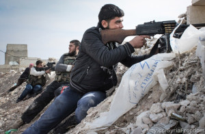 Image Source: Freedom House, Flickr, Creative Commons Free Syrian Army rebels fighting against Assad militias on the outskirts of the northwestern city of Maraat al-Numan, Idlib - Syria