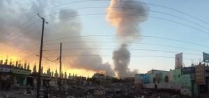 Image Source: ibrahem Qasim, Flickr, Creative Commons Air strike in Sana'a 11-5-2015.jpg