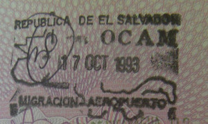 Image Source: Tony Bowden, Flickr, Creative Commons El Salvador Passport Stamp