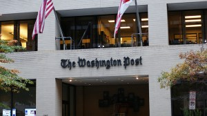 Image Source: Dion Hinchcliffe, Flickr, Creative Commons The entrance to the Washington Post on 15th street Northwest DC