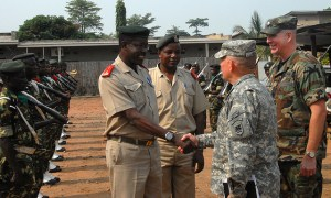 Image Source: US Army Africa, Flickr, Creative Commons Maj. Gen. Hogg visits Burundi, September 2010 U.S. Army Africa Commander, Gen. David R. Hogg, meets with Burundian Defense Forces leaders, September, 2010.