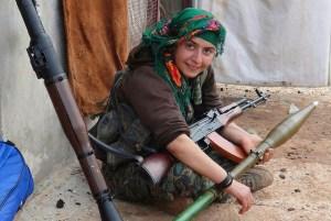 Image Source: Kurdishstruggle, Flickr, Creative Commons Kurdish YPG Fighter  YPJ