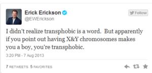 ericksontransphobic