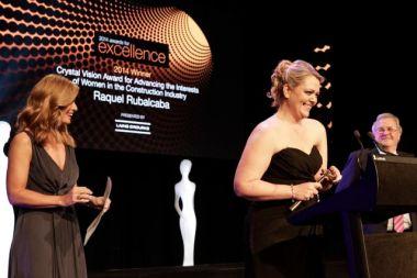"Laing O'Rourke Crystal Vision Award winner Raquel Rubalcaba –  ""Not one of the boys""."