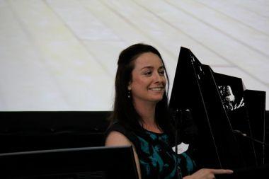 Chiara Pacifici, accepting a Banksia award on behalf of Psaros