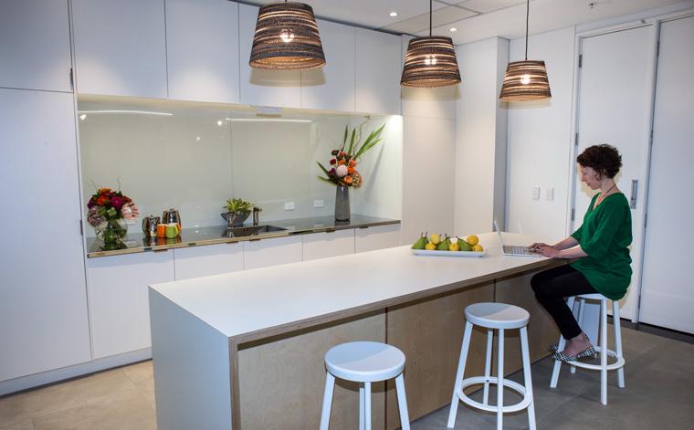 Working in the kitchen. Image: Wayne Curtis