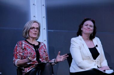 Too many rules and regs? Lucy Turnbull, left, with Margy Osmond