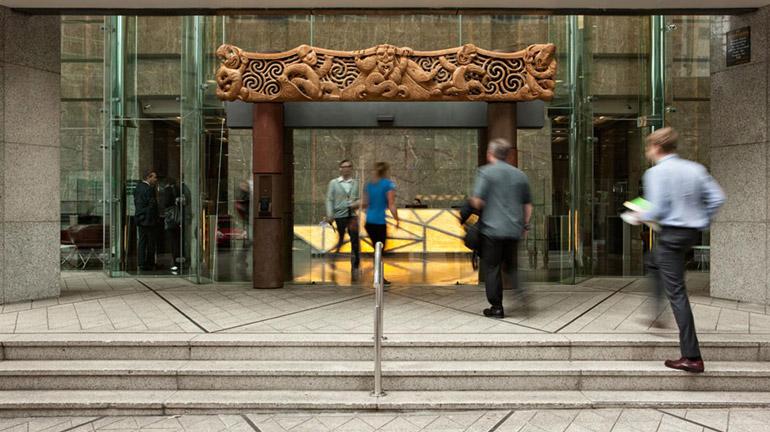 Carving-at-main-entrance