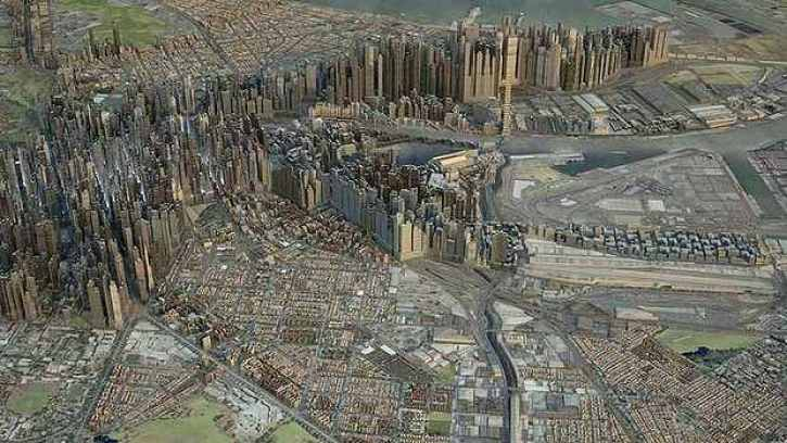 ASBEC has been calling for a Minster for Cities since 2011. Image: A footprint of Manhattan overlaid on Melbourne to show a possible future scenario. Image: Monash University.
