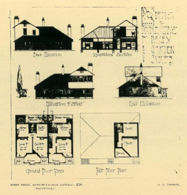 Daceyville Garden suburb (first prize for semi-detached cottage), PTW Architects