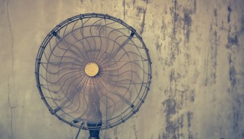 Vintage electric fan ( Filtered image processed vintage effect. )