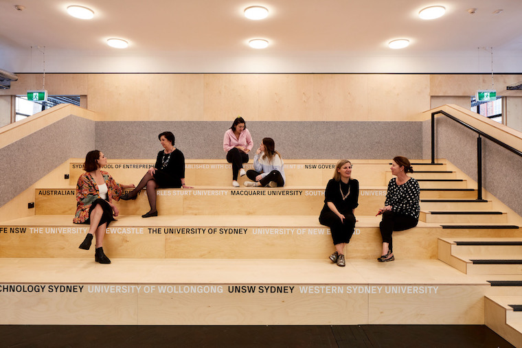 Tafe Sydney School of Entrepreneurship refurb platform bleachers