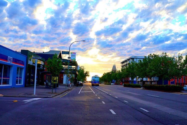 streetscape of Adelaide street