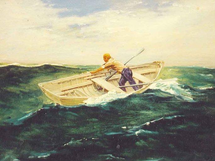 Row boat storm