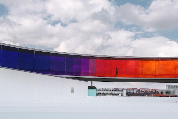 colour glass building