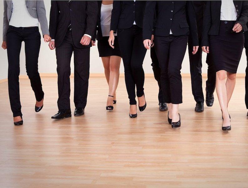 workplace diversity women and men legs