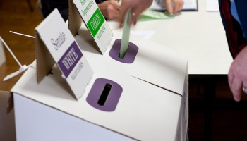 ballot box on polling day
