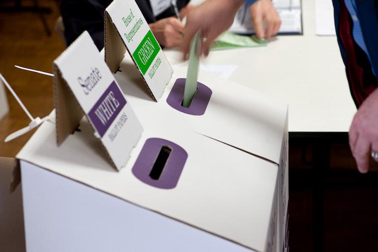 ballot box on polling day