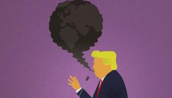 President trump illustration climate denial