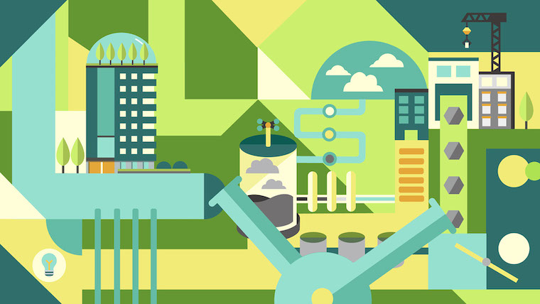 green economy investment illustration