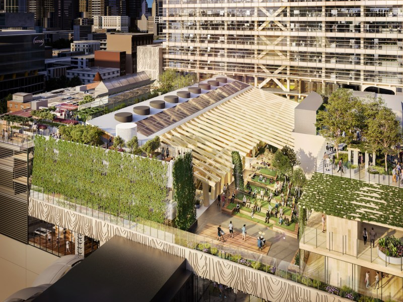 GPT's new timber showpiece above Melbourne Central aims to be a memorable project