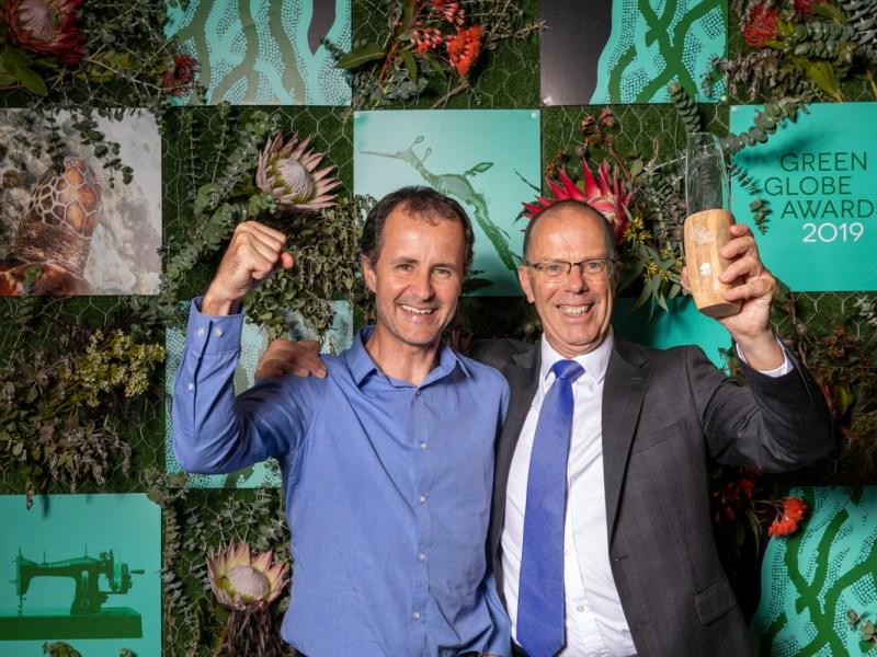 Green Globe Awards night. Steve Ford and Bruce Precious.