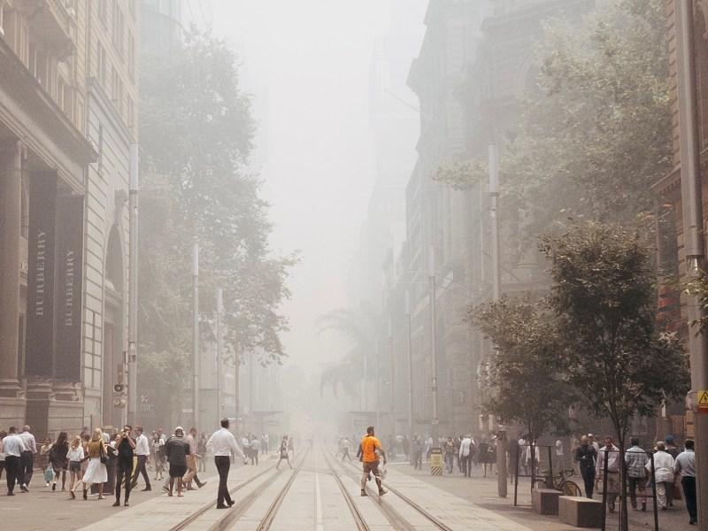 George Street, Sydney smoke