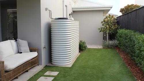 home rainwater tank white