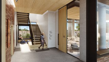 Trinity College interior illustration