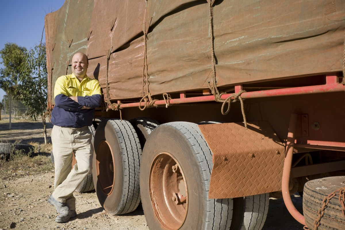 truck driver with his vehicle australia