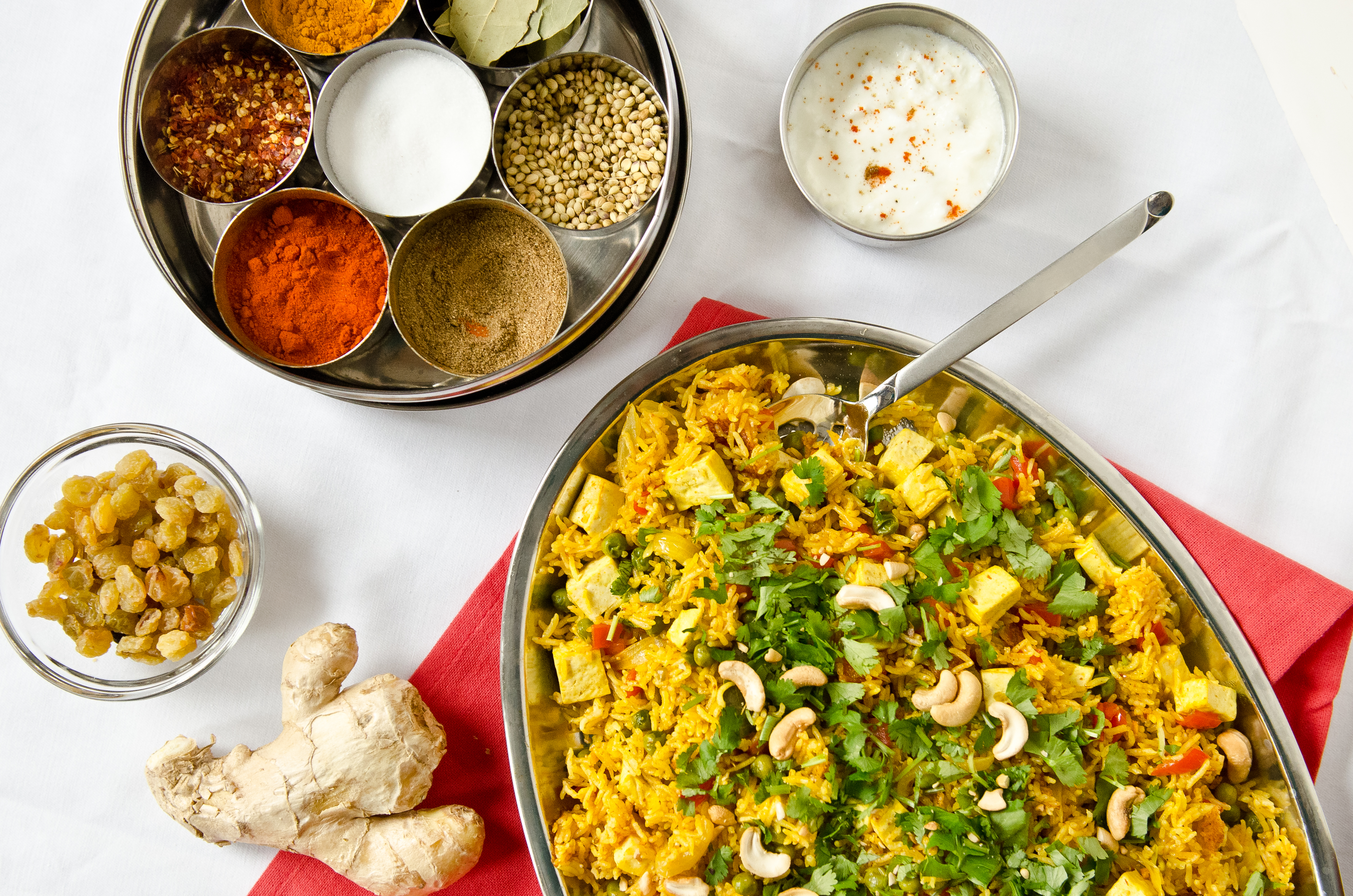 Indian Spiced Briyani with Tofu